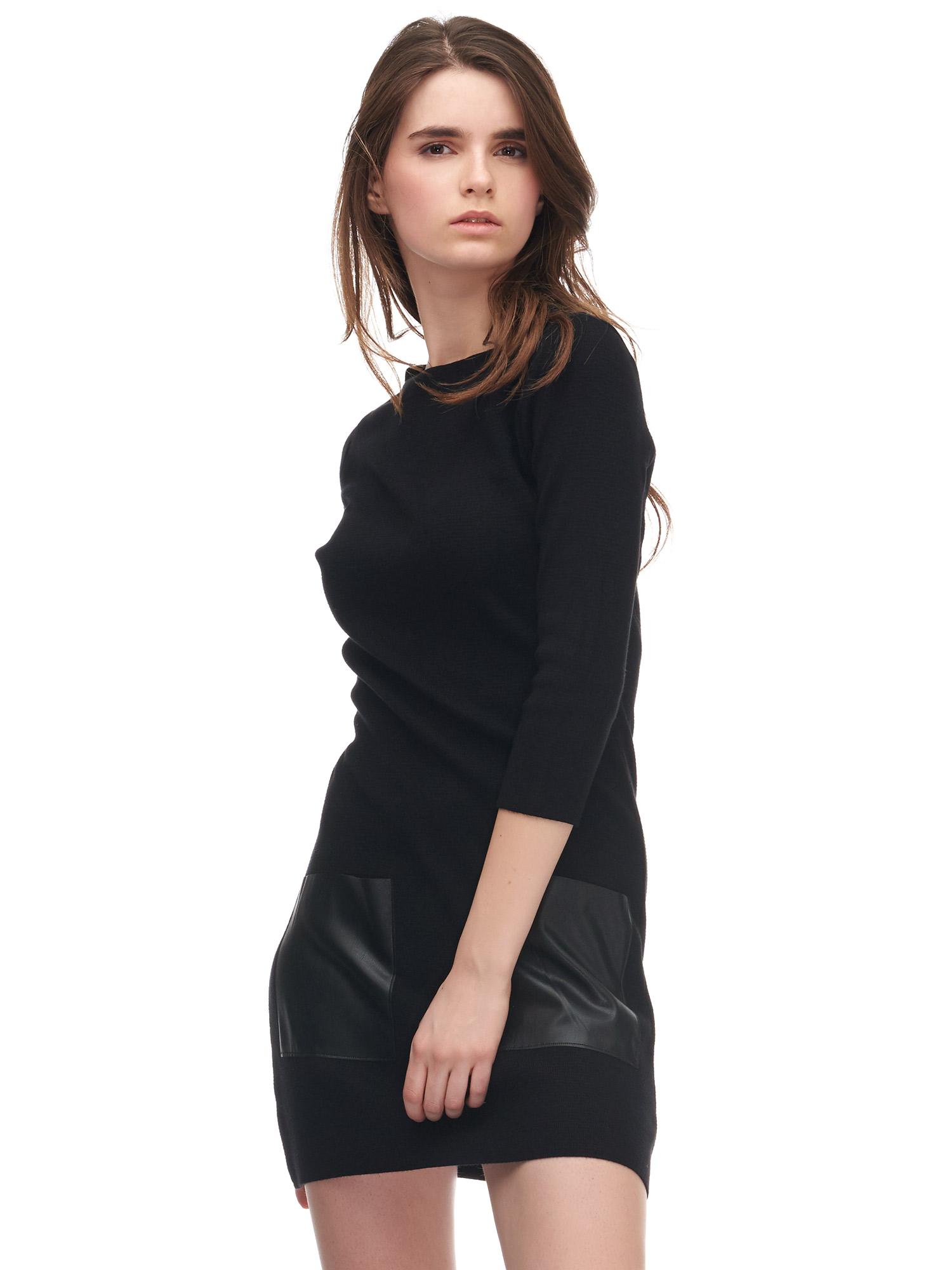 9bb7111878472 1773 Truvakar Kol Deri Cepli Elbise Siyah | İNDİRİM | DILVIN
