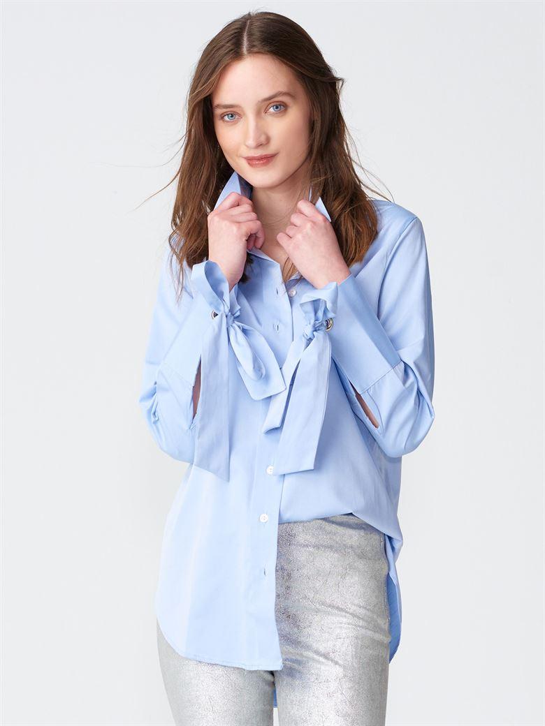 7ed30c1c85ad3 2101 Kolları Bağlamalı Gömlek-Mavi